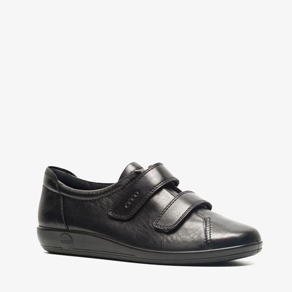 Ecco Doux Chaussures Noires Avec Velcro Pour Les Femmes 4AuhxSbF