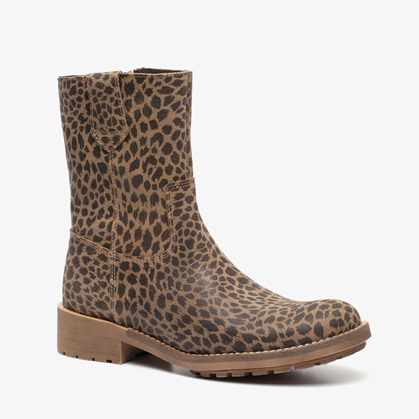 Betere Groot leren meisjes leopard laarzen online bestellen   Scapino OP-91