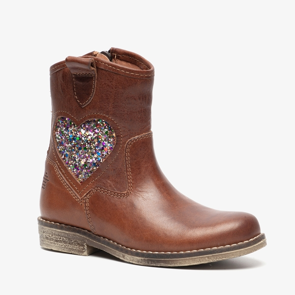 97093e99e17 Groot leren meisjes laarzen online bestellen   Scapino