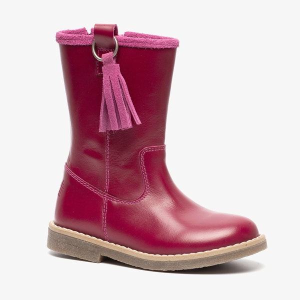 Groot leren meisjes laarzen 1