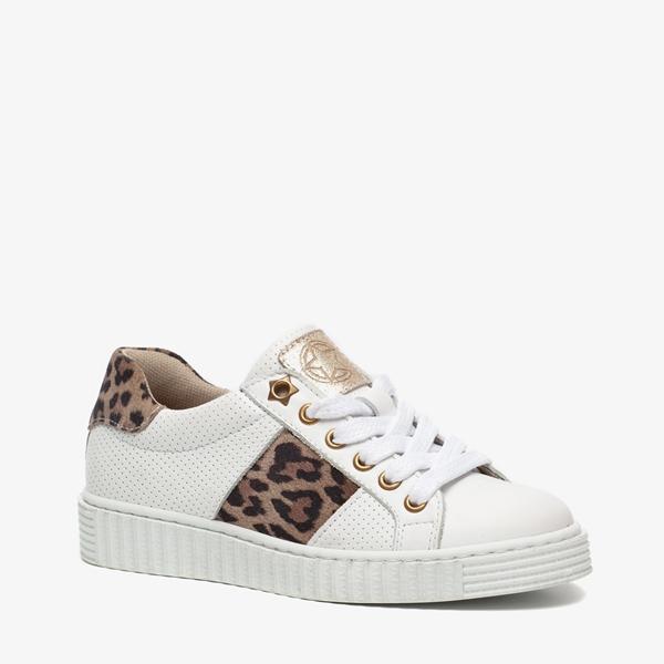Groot leren meisjes leopard sneakers 1
