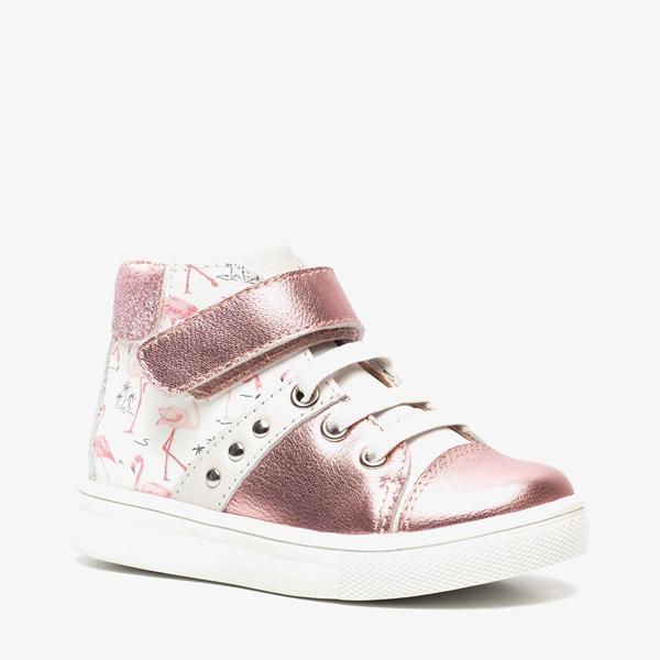 TwoDay leren meisjes flamingo sneakers 1