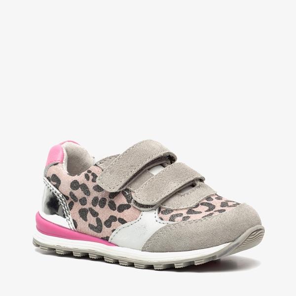 TwoDay leren meisjes leopard sneakers 1