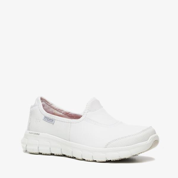 Werkschoenen Sneakers Dames.Skechers Leren Dames Werkschoenen Online Bestellen Scapino