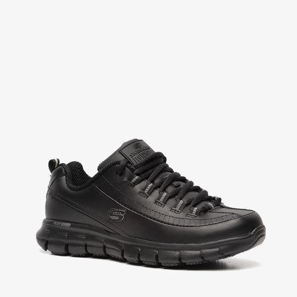 Zwarte Werkschoenen Dames.Skechers Leren Dames Werkschoenen Online Bestellen Scapino