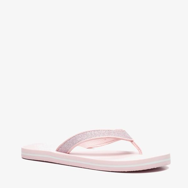 Roze dames teenslippers 1