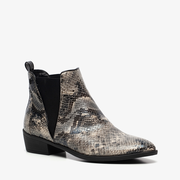 Blue Box dames snake chelsea boots 1