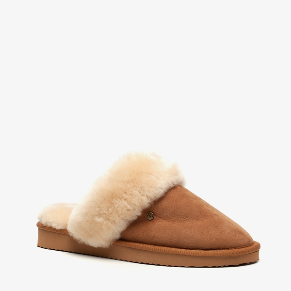 Hush Puppies suede dames pantoffels   Scapino.nl