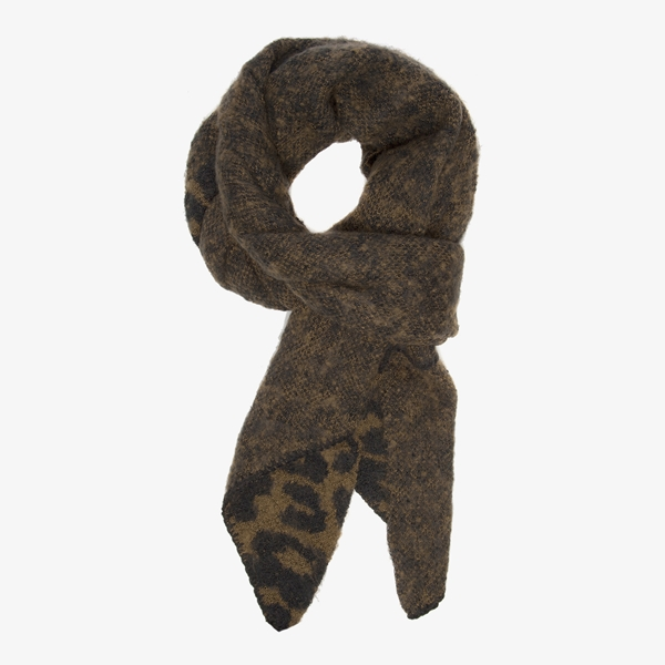 Groene sjaal met luipaardprint 1