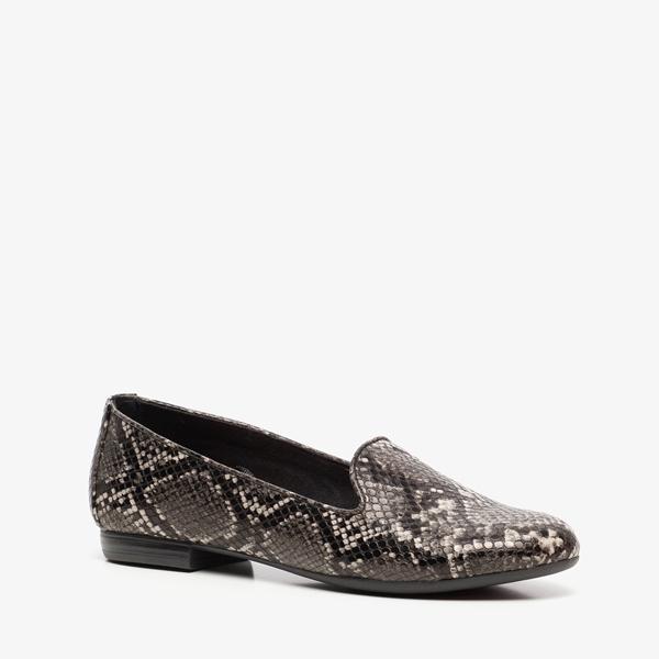Nova dames loafers met slangenprint 1