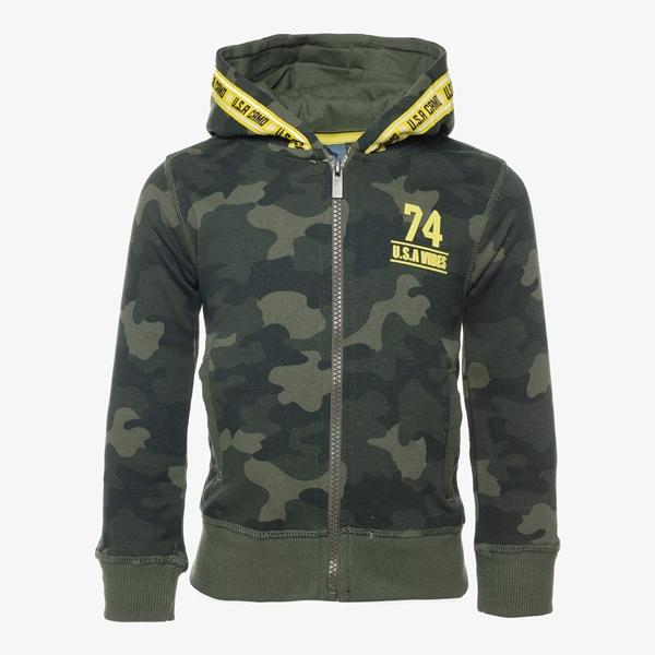 Oiboi jongens vest met camouflage print 1
