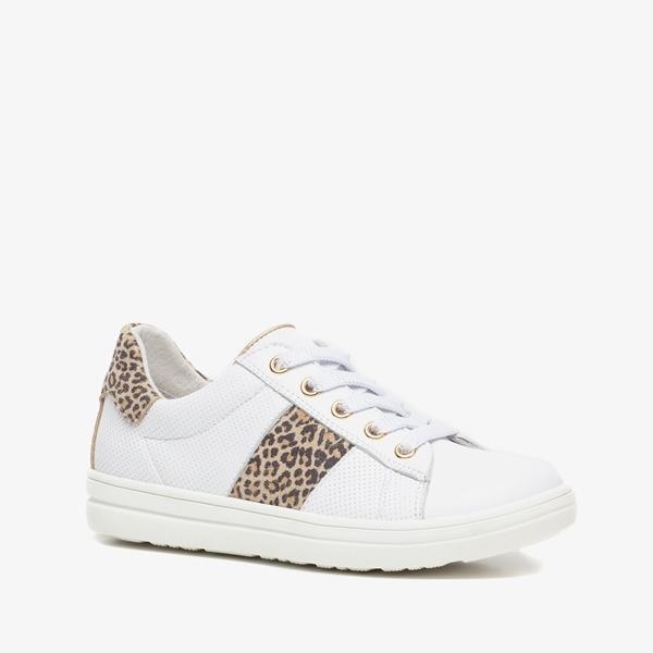 TwoDay leren meisjes sneakers met luipaardprint 1