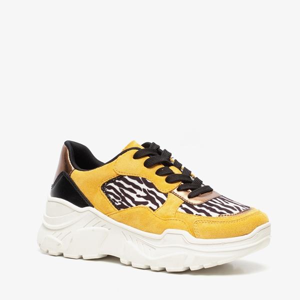 Blue Box dames dad sneakers met zebraprint 1