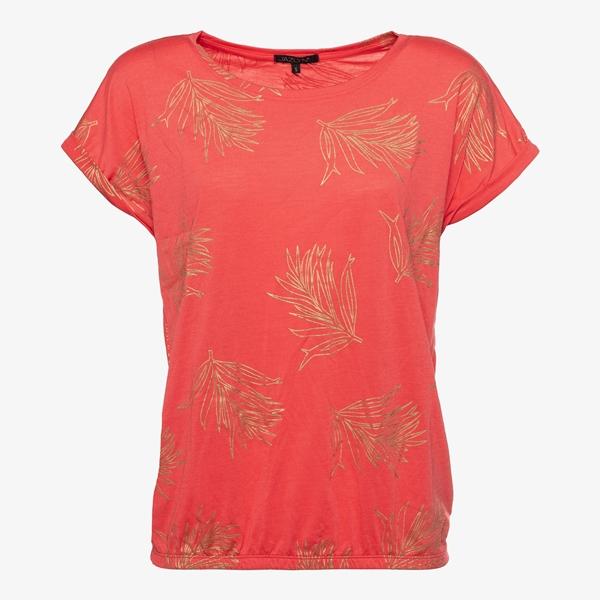 Jazlyn dames T-shirt met veertjes 1