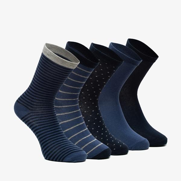 5 paar dames sokken met stipjes en strepen 1