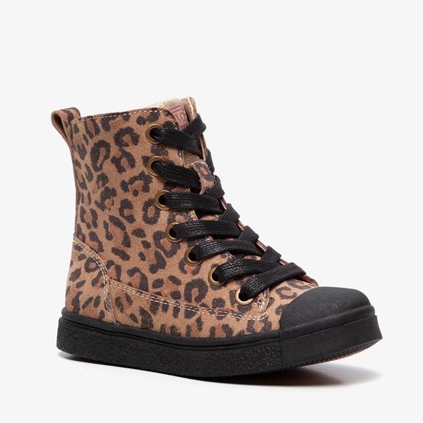 TwoDay leren meisjes luipaard enkellaarsjes online bestellen