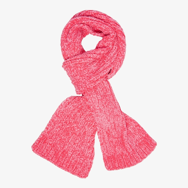 Gebreide meisjes sjaal roze 1