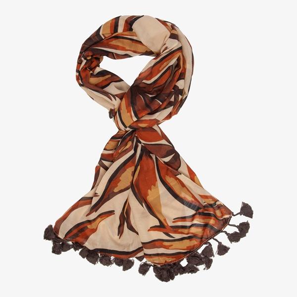 Dames sjaal met print 1