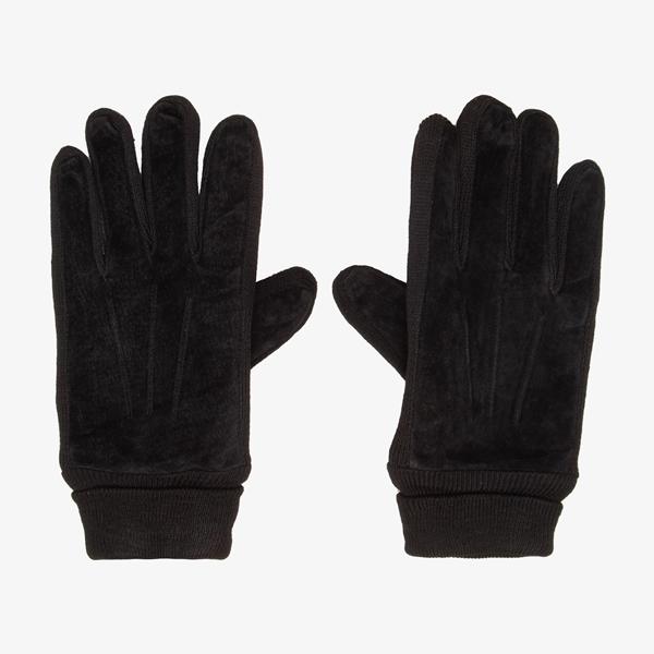 Leren heren handschoenen zwart 1