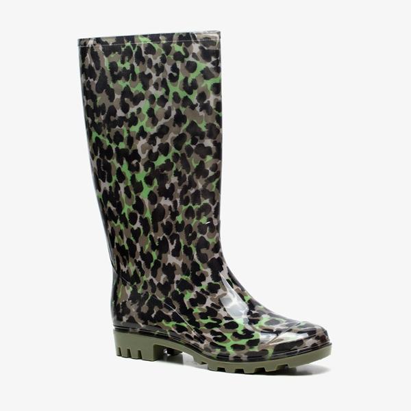 Dames regenlaarzen met luipaardprint 1