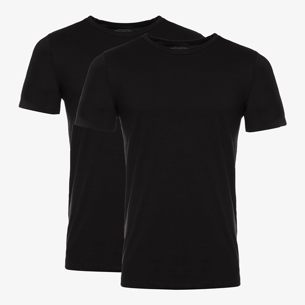 Jack & Jones 2-pack basic heren T-shirts zwart 1