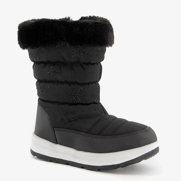 Gevoerde kinder snowboots zwart 1