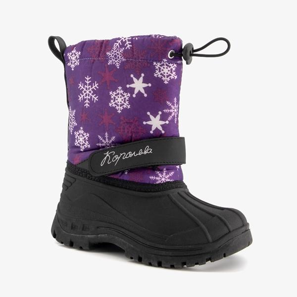Gevoerde kinder snowboots paars 1
