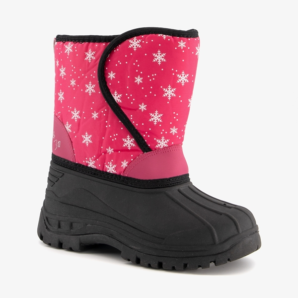Gevoerde kinder snowboots roze 1