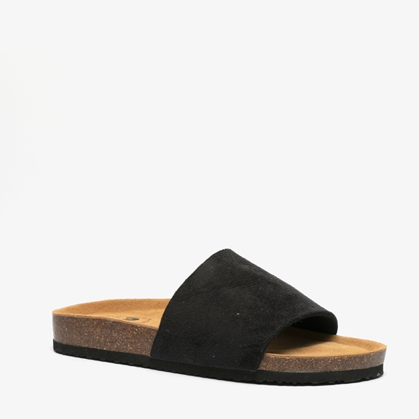 Dames bio slippers zwart 1