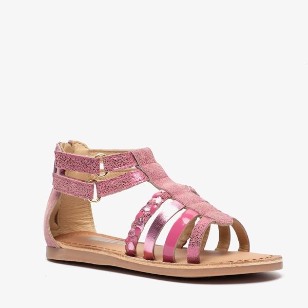 Groot leren meisjes sandalen 1