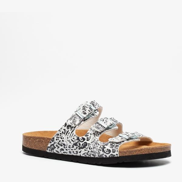Hush Puppies dames bio slippers met luipaardprint 1