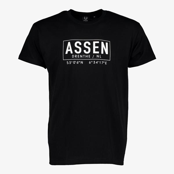 Heren T-shirt Assen zwart 1