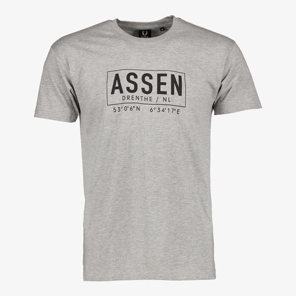 Heren T-shirt Assen grijs 1