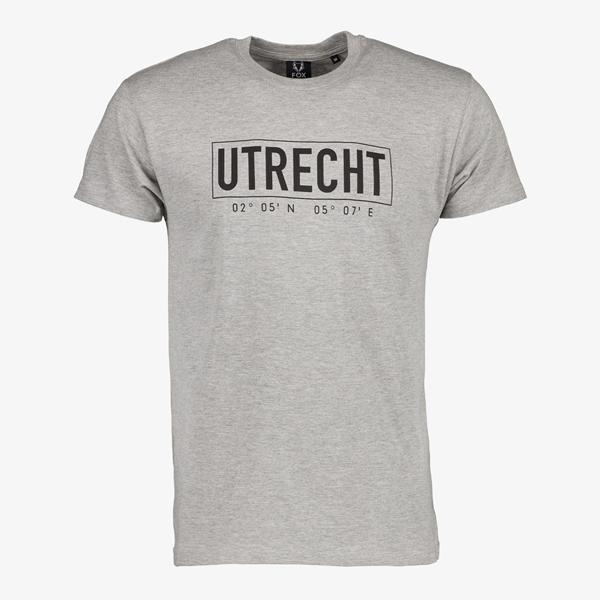 Heren T-shirt Utrecht grijs 1