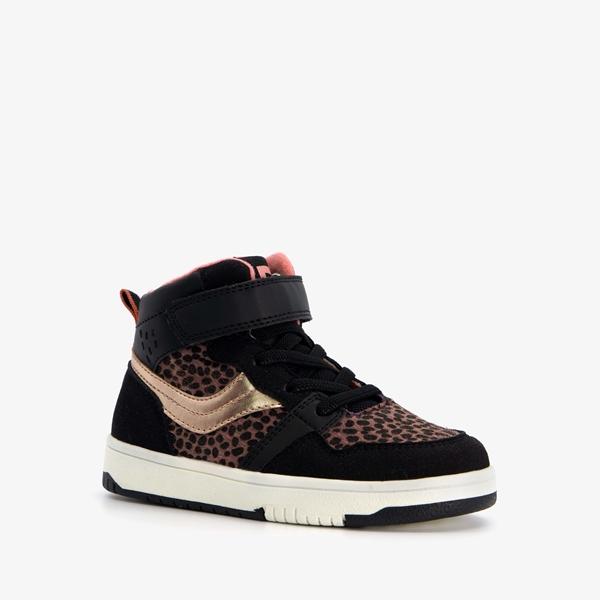 Blue Box hoge meisjes sneakers met luipaardprint 1