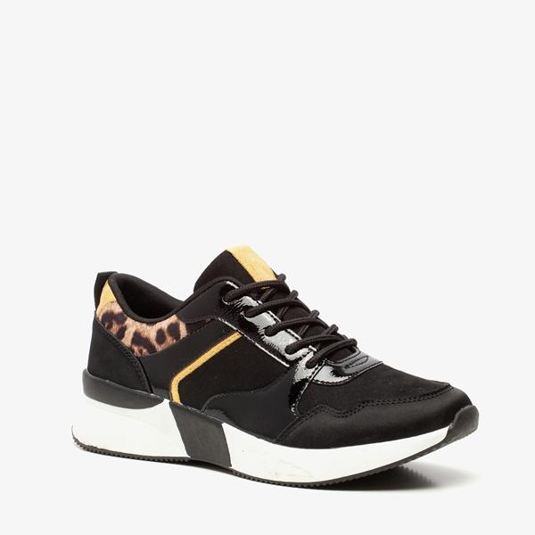 Blue Box dames dad sneakers met luipaardprint 1