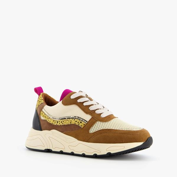 Blue Box dames dad sneakers met cheetah print 1