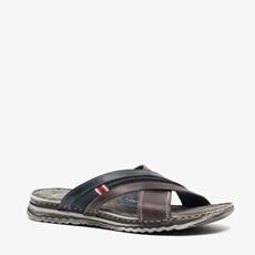 Output leren heren slippers