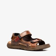 Output leren heren sandalen