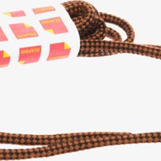 Zwart bruine veters rond 120 cm