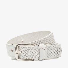 Witte dames riem snake