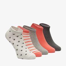 5 paar dames sneakersokken