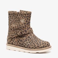 Groot leren meisjes leopard enkellaarsjes