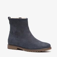 Hush Puppies suede dames enkellaarsjes
