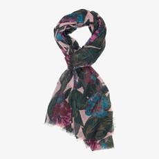 Dames sjaal met bloemenprint