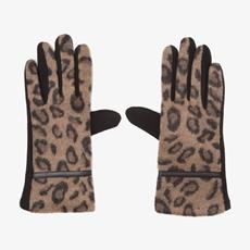 Dames leopard handschoenen