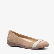 Hush Puppies suede dames ballerina's