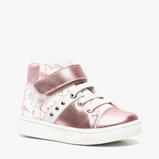 TwoDay leren meisjes flamingo sneakers