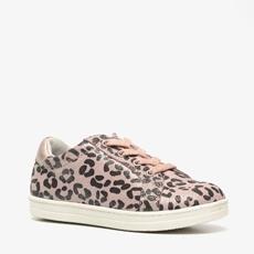 TwoDay leren meisjes leopard sneakers