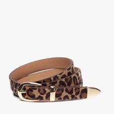 Dames riem met luipaardprint